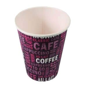 Printed Cardboard cup for hot drinks