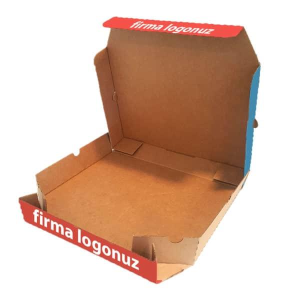 Antalya Baskılı Karton Pizza Kutusu açık