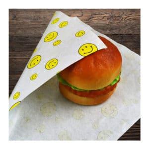 Antalya baskılı içi yağlı hamburger kağıdı