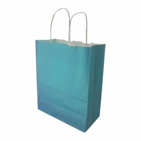 _0024_turkuaz renk kağıt çanta burgu saplı