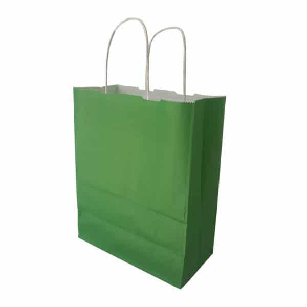 25x30x12 cm kağıt çanta yeşil renk