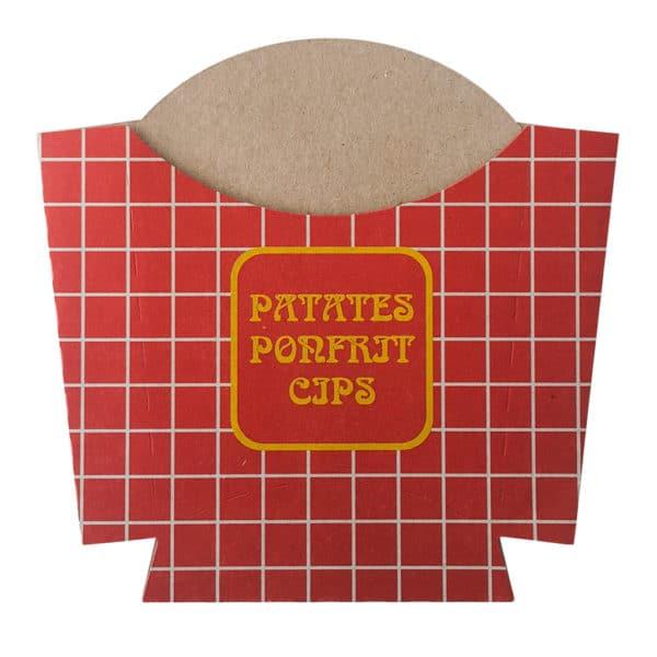 Hazır Ürünler_0016_Hazır Karton Patates Kızartması Kutusu Cips Kutusu Pommes Frites Cartoffeln