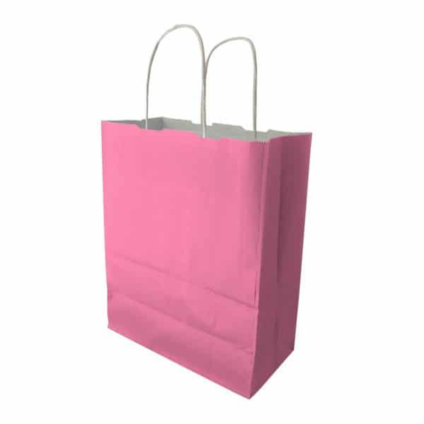 25x30x12 cm kağıt çanta pembe renk