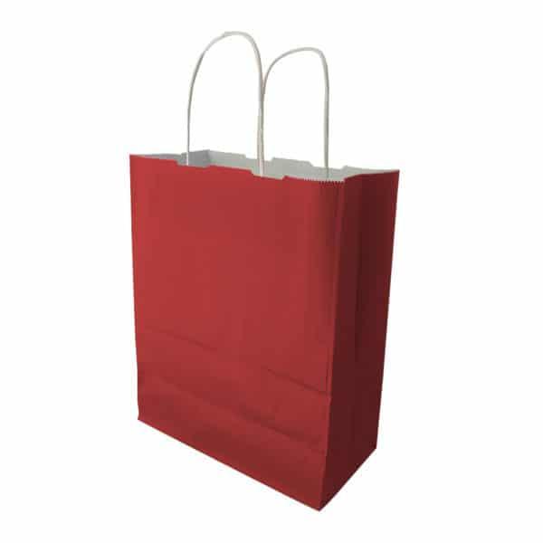 25x30x12 cm kağıt çanta kırmızı renk