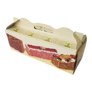 Prepared Cardboard Baton Cake Box with special cake printed