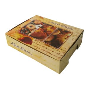 Prepared Cardboard Cookie Box with cookie images printed 2