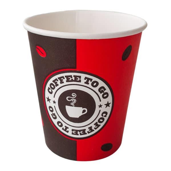 Prepared cardboard coffee cups for warm drinks