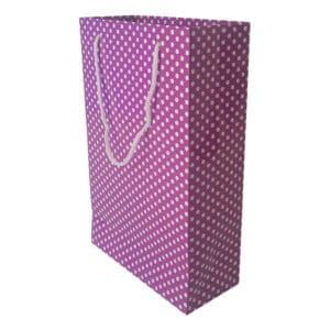 17 x 27 x 7 cm Karton çanta ipli pauntiyeli mor renk