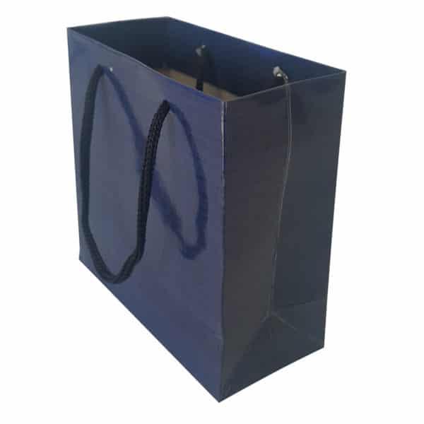 11 x 11 x 5 cm Karton çanta ipli lacivert renk