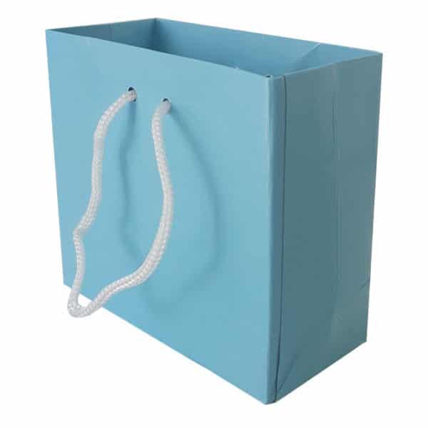 11 x 10 x 5 cm Karton çanta ipli mavi renk
