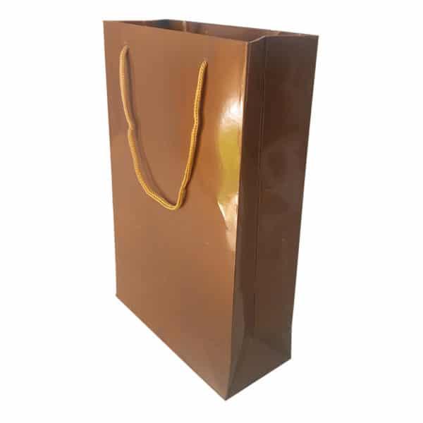 17 x 26 x 7 cm Karton çanta ipli gold renk
