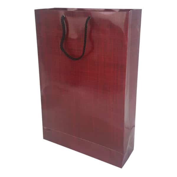 26 x 38,5 x 8 cm Cardboard Bag Burgundy Color