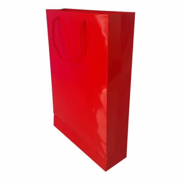 26 x 38,5 x 8 cm Karton çanta ipli kırmızı renk