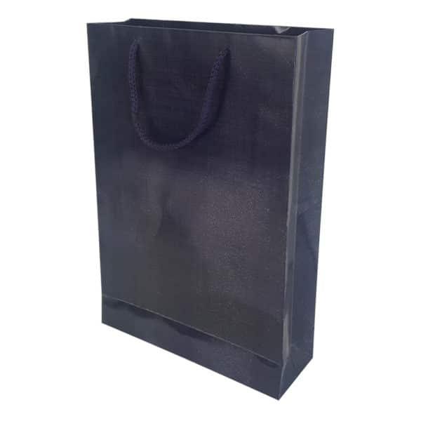 26 x 38,5 x 8 cm Cardboard Bag Navy Blue