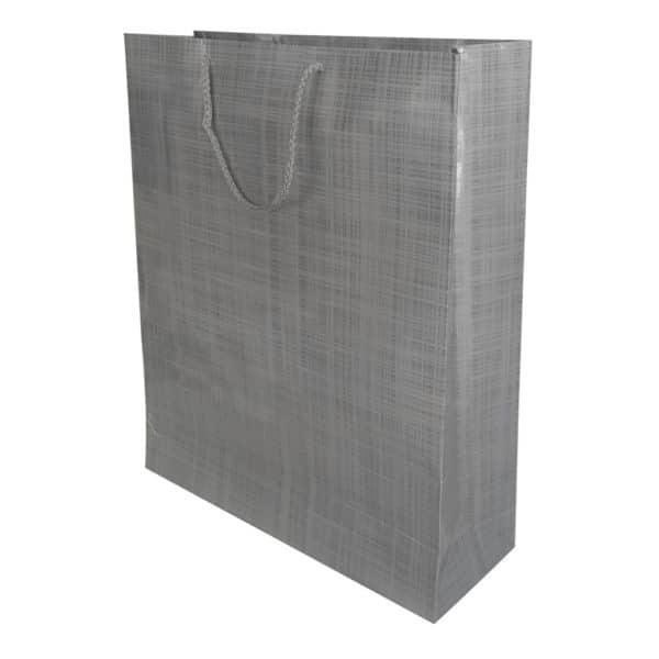 35 x 42 x 12 cm Karton çanta ipli gri renk