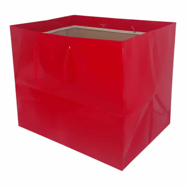 36 x 31 x 27 cm Cardboard Bag Red Color