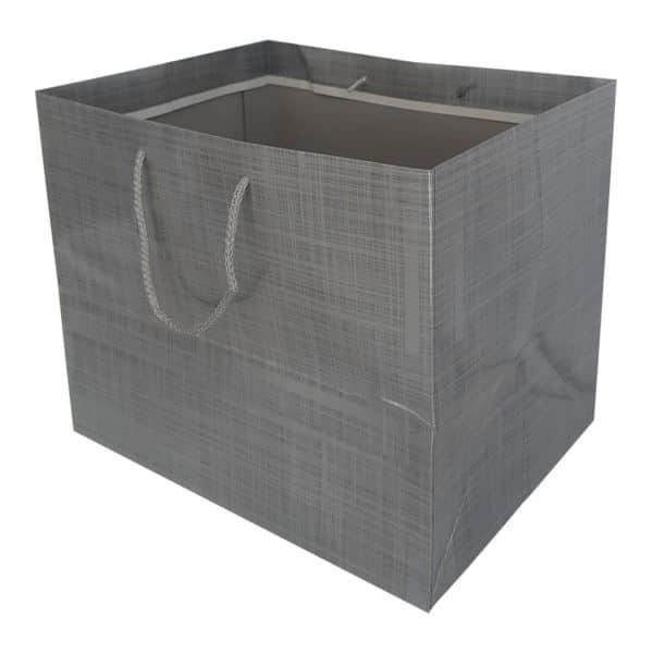 36 x 31 x 27 cm Cardboard Bag Grey Color