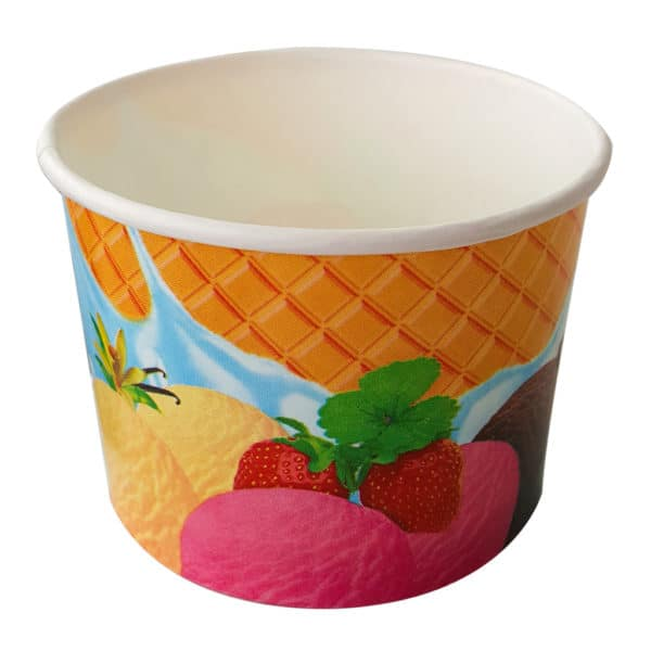 ice cream cups ready to use prepared leak proof printed with special images