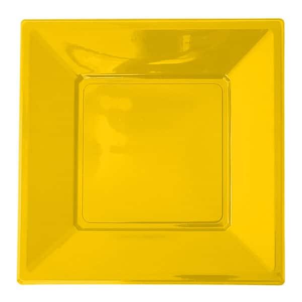 sarı renk plastik tabak 17cm 8 adetli pakette