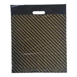 takviyeli poşet diagonal çizgili 50 adetli pakette 49 x 58 cm