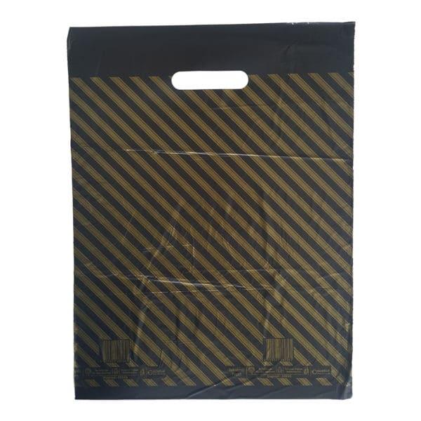 takviyeli poşet diagonal çizgili 50 adetli pakette 40 x 49 cm