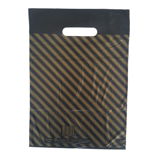 takviyeli poşet diagonal çizgili 50 adetli pakette 26 x 38 cm