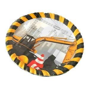 inşaat temalı kağıt tabak (22cm-8adet)