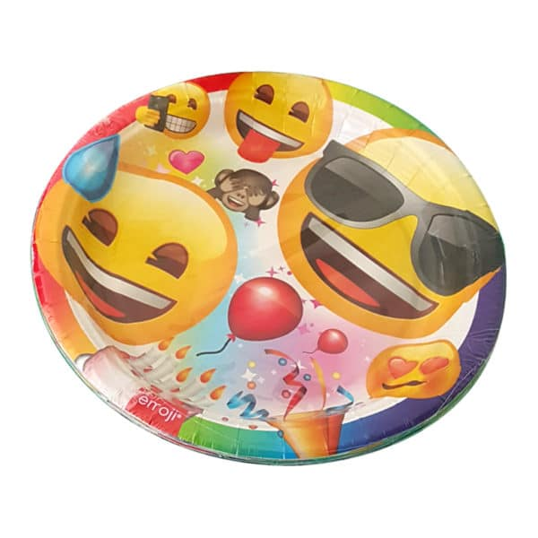 emoji parti temalı kağıt tabak (22cm-8adet)