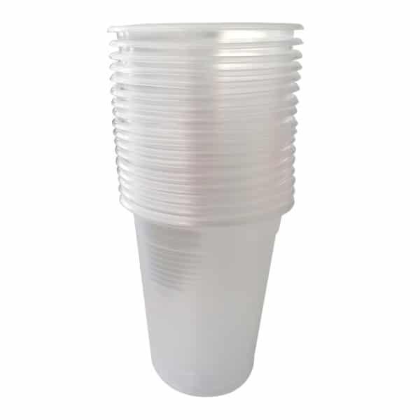 180 cc plastik bardak 100 adetli pakette