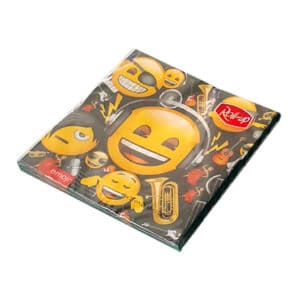 genç emoji temalı peçete (33x33cm kare peçete 20adet)
