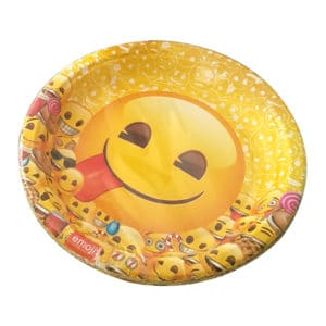 emoji temalı kağıt tabak (22cm-8adet)