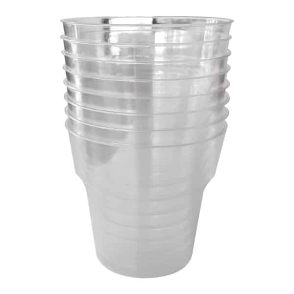 Kristal Bardak 25 adetli pakette cam görünümlü plastik bardak