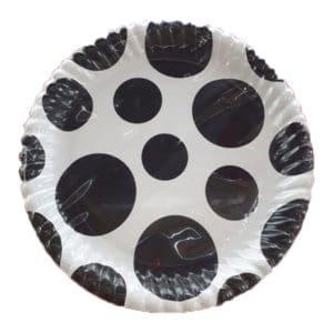 siyah beyaz kağıt tabak
