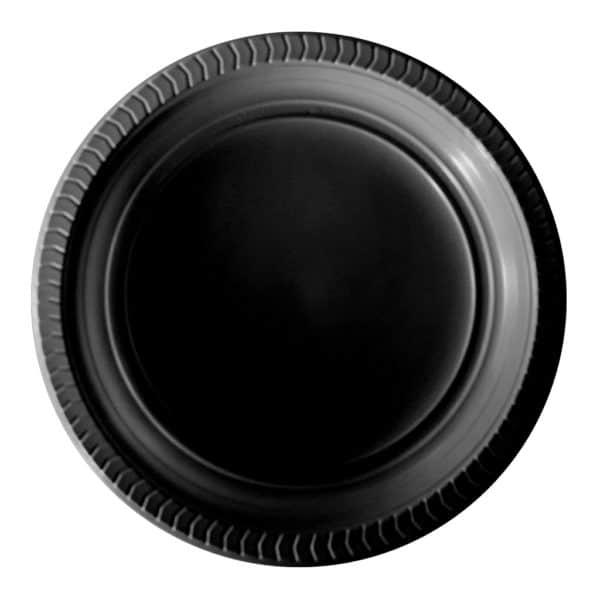 siyah plastik tabak kullan at 22 cm 25 li