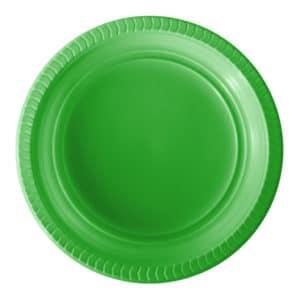 yeşil plastik tabak kullan at 22 cm 25 li