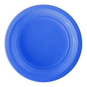 mavi plastik tabak kullan at 22 cm 25 li