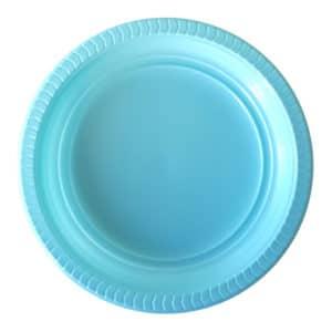 plastik açık mavik tabak kullan at 22 cm 25 li
