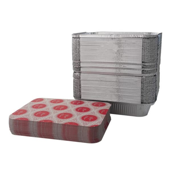 1000 cc alüminyum kap 100 adetli pakette