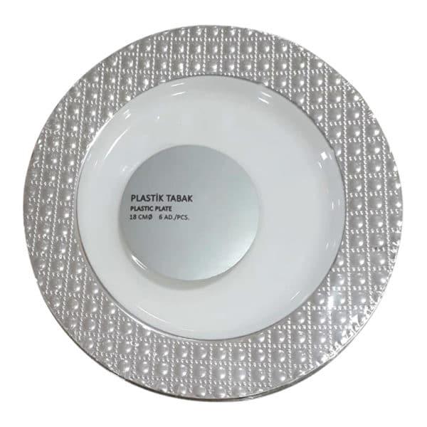 plastik tabak18 cm 6 adet