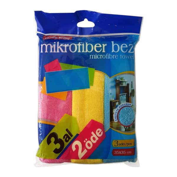 mikrofiber bez 3 adet 35×35 cm