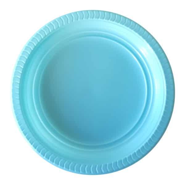 plastik tabak mavi renk
