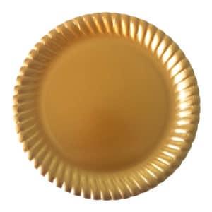 Karton Tabak Altın Renk Burgu Kenarlı