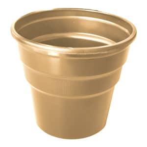 altın renk kullan at plastik bardak