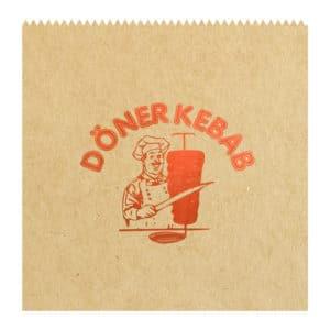 Hamburger kese kağıdı 15,5x15 cm ebatta, 20 kg'lık pakette. 1 kg yaklaşık 350-375 adet. Ürün şamua kraft kağıttan üretilmiştir