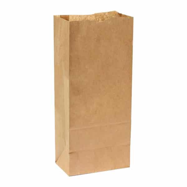 Kare dipli kese kağıdı 18x33x10 cm ebatında 50 adetli pakette veya 800 adetli koli