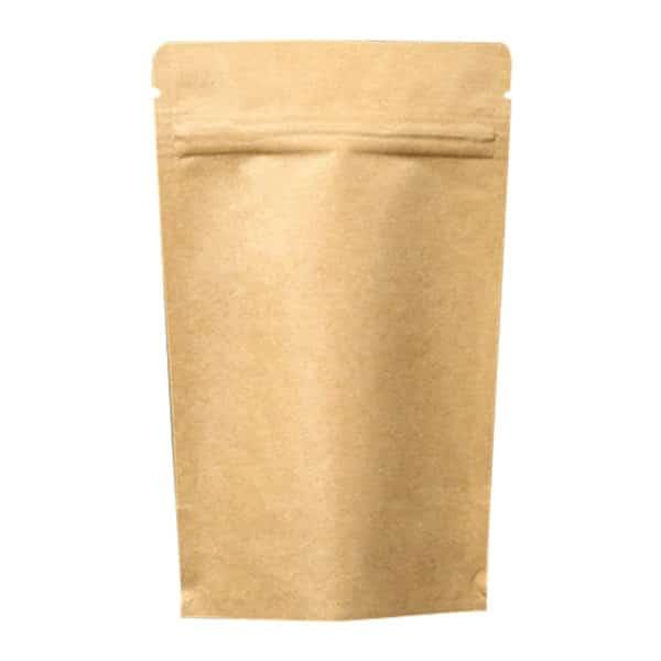 Kilitli kese torbası kraft içi alüminyum 11×18,5 cm ebatında 250 adetli, 2000 adetli pakette