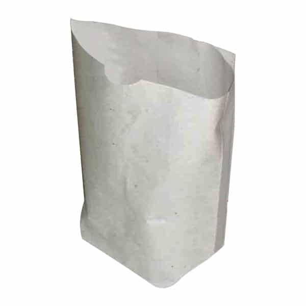 Kuru yemiş kese kağıdı 500 gr. 5 kg'lık pakette, ürün beyaz kraft kağıttan üretilmiştir.