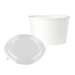 Karton salata kasesi 750 gr, ürün düz beyaz renkte, kapak dahil ve 50 adetli pakette, ürün gıdayla temasa uygun kartondan üretilmiştir.