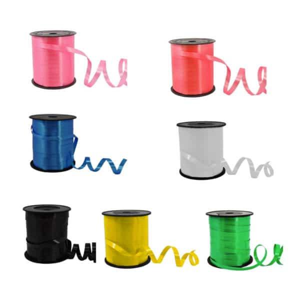 Şerit rafya en 8 mm ve 200 mt uzunluğunda, 1 adetli pakette, gold, gümüş, yeşil, kırmızı, sarı, pembe renk seçenek