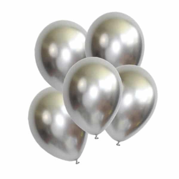Metalik balon 12 inc, 10 adetli pakette